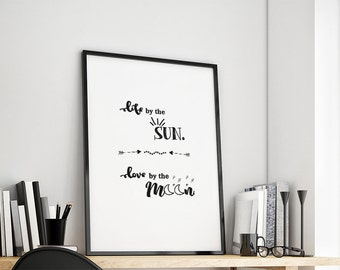 Sun and Moon Art Print Gift