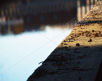 Unframed Canal Reflection Photography Print, Home Decor, Canal, Water Picture, Reflection, Sunny, Shadow, Water, Reflection in Water, Nature