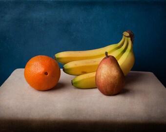 Fruit still life Photography Art, Banana, Grapes, Oranges Art Photography