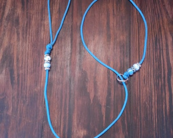 Turquoise Custom Beaded Paracord Dog Show Leads