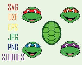 Teenage Mutant Ninja Turtles, Svg, Dxf, Eps, Studio 3, Png, Jpg, Silhouette Studio,Cricut Files, SVG files, Silhouete Cameo, Cutting Files