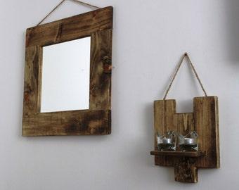rustic reclaimed mirror