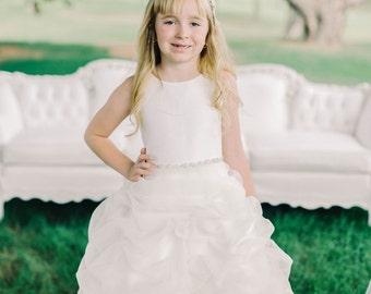Designer Couture Dress- Flower Girl Dress Ivory 6 - Fabulous Deal!