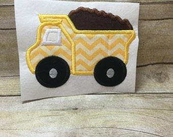 Dump Truck Applique, Dump Truck Embroidery Design Applique