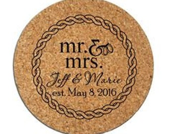 Custom Engraved Cork Coasters Personalized