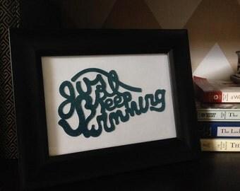 Just Keep Swimming, Framed Wall Art