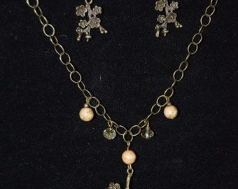 handmade necklace/earring set