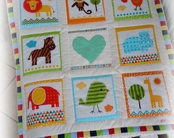 Patchwork quilt blankie baby blanket Playmat