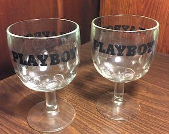 2 1960s Playboy Goblets