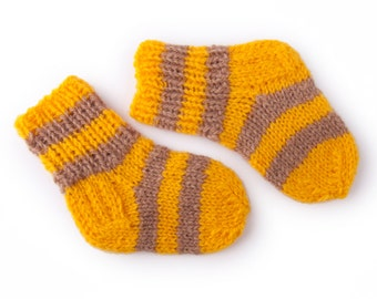 Free Shipping Worldwide!/Hand Knitted Baby Socks / Wool Baby Socks / Knit Baby Socks / Knitted Wool Baby Socks / Knit Socks / Baby Socks