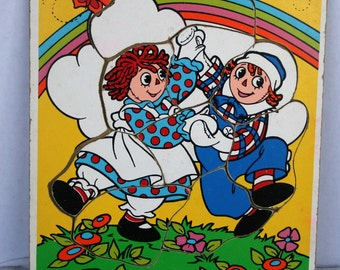 Vintage Raggedy Ann and Andy Puzzle 1987 Macmillan, Inc