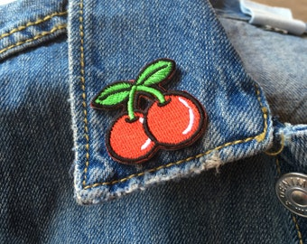 Cute Mini iron on Cherry Patch // vintage grunge 90s