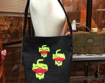 Night of the Zombie Cats Tote Bag