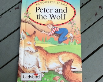 Peter and the Wolf, 1993 Ladybird Book, Vintage Childrens Story Book, Learn to Read, Bedtime Story