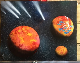 Spray Paint Art Space Poster