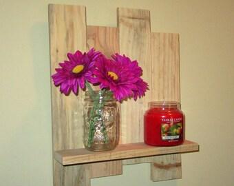 Reclaimed Unfinished wood shelf, pallet wood shelf, wall shelf, DIY Wood Shelf, Candle holder