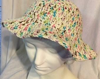 MultiColor Crochet Sunhat