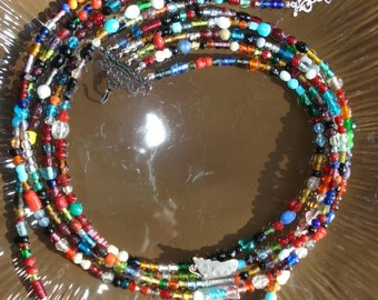 African Butterfly Necklace