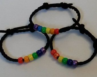Gay Pride Rainbow Bracelet