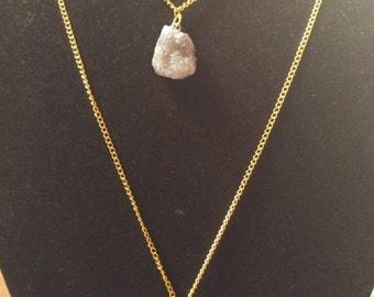 Three Tier Crystal Stone Necklace