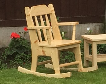 Children's rocking chair.
