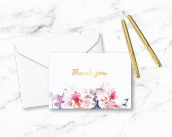 4x6 Floral Thank You Card - Set of 20
