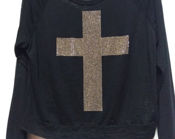 Sheer, altered cropped cross top