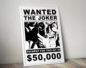 Joker Wanted Poster