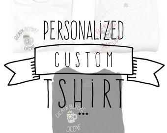 CUSTOM Hand-Embroidered T-shirt - YOUR DESIGN- Personalized, Embroidery, Tee,