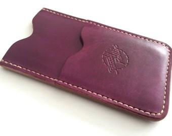 Leather iPhone & Card Wallet / Case fits iPhone 5, 5s, SE, 6, 6s, 6 Plus, 6s Plus, 7, 7 Plus