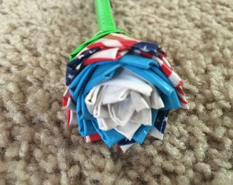 American flag duct tape rose pens