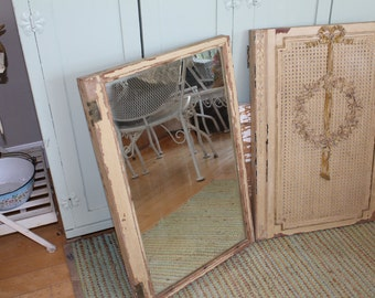 AMAZING Antique Mirror French Cabinet Doors