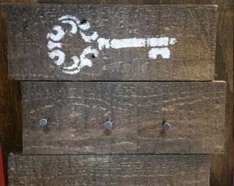 Reclaimed wood key holder