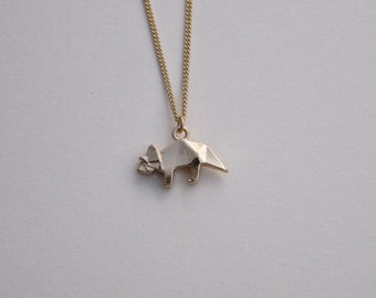 dino necklace gold necklace everyday necklace bridesmaid necklace