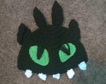 Toothless-Not-So-Toothless Beanie Crochet Pattern