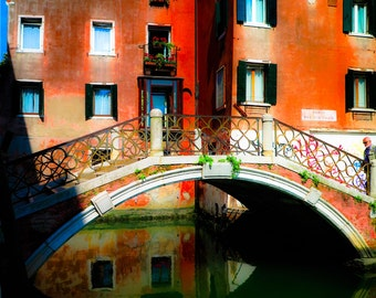 Bridge Reflection in Venice, Italy