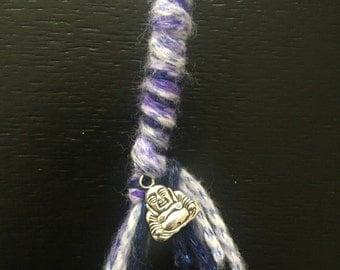 Woollen Dreadlock Extension/Hair Wrap - purple