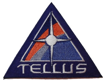"""Space Above and Beyond TV Series Tellus 3 1/2"""" Wide Embroidered Patch"""