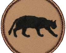 "2"" Diameter Embroidered Panther Patch SEVERAL COLORS! (008)"