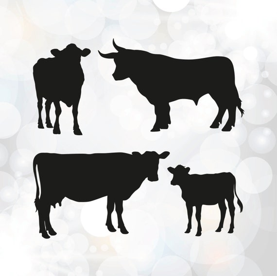 Download Cow SVG Calf Clipart Vector ClipArt for Commercial and