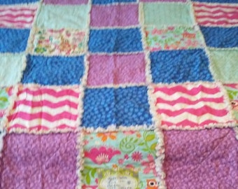 Multi-color Rag Quilt