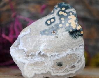 Orbicular Ocean Jasper Crystal Specimen - 1137.07
