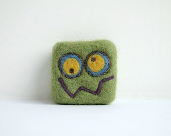Felted soap - Mid Green