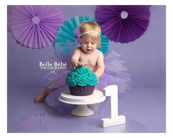 Tutu and headband set, 1st birthday outfit, girls cake smash outfit, baby girl 1st birthday,