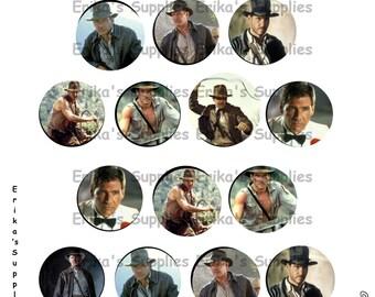 Harrison Ford's Indiana Jones 1 inch Bottle Caps Digital Download  5.8 x 7.5