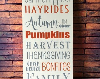 Fall sign, Fall decor, Wood sign, Thanksgiving decor, Autumn decor, Fall handpainted sign, Hand painted fall sign, Thanksgiving sign