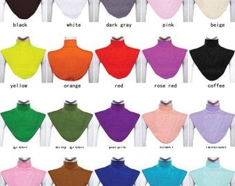 Hijab High Elastic Neck Back Cover Islamic Shirt Under Top Abaya free shipping