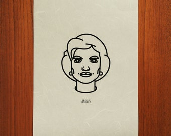 Jackie Kennedy-Onassis Outline Portrait