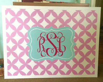 Monogram Patterned Canvas