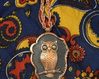 Vintage Owl Solid Copper